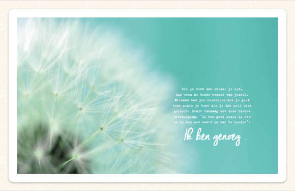 Pagina boek 5 stappen per dag Just Be You