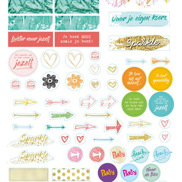 Stickers Just Be You Planner 2018