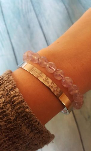 Just Be You Armband – Zilver / Rosé photo review