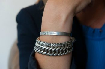 Just Be You Armband zilver kleurig Just Be You