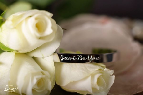 Just Be You Armband zilver kleuri