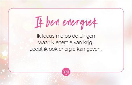 Sparkle Collection Just Be You - Ik ben energiek