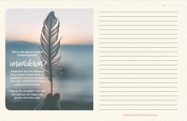 Inhoud Gedachten en Mooie Momenten Versie 2