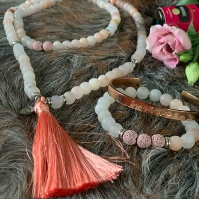 Mala ketting Rozen Aventurijn Just Be You Label