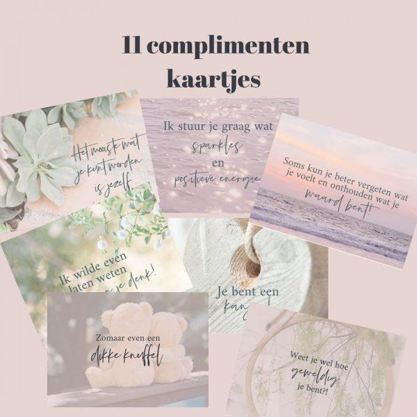 11 complimenten kaartjes Just Be You